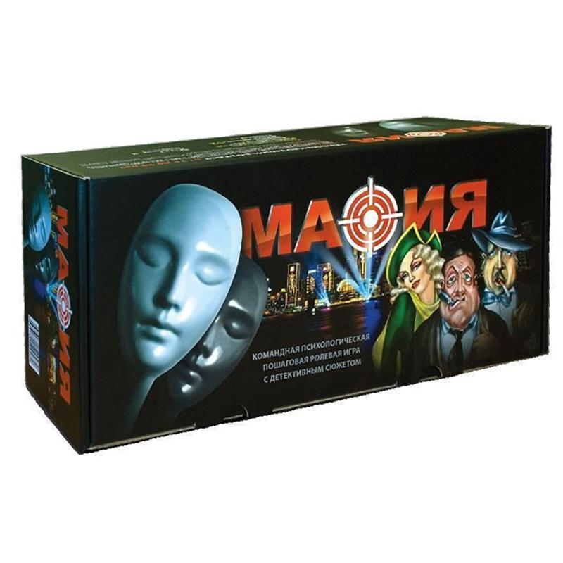Galda spēle MAFIA MAFIJA ar maskām 15+ (krievu / latviešu val.) Ir uz vietas!